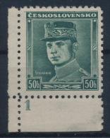 "*Czechoslovakia 1935 Mi 338 Stefanik Plate Planche Platte ""1"" MH - Tschechoslowakei/CSSR"