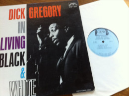 In Living Black And White - DICK GREGORY - Vinyle 33 Trs - - Blues