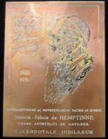 M01743 JOANNIS - FELICIS de HEMPTINNE - VICARII APOSTOLICI DE KATANGA 1901 - 1951 (135.5g) Plaque de Gravure