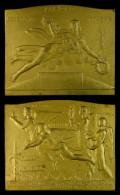 M01763 EXPOSITION UNIVERSELLE BRUXELLES 1935 - INGENIUM - ARS - INDUSTRIA - INTELLECTUS (169.1g) Allégories Au Revers - Belgium