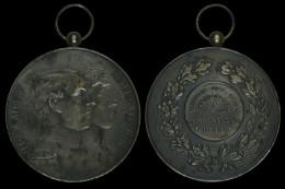 M01764 ALBERT I Et ELISABETH - CONCOURS HIPPIQUE INTERNTIONAL - GENVAL-LES-EAUX 1925  (43.6g) Laurier Au Revers - Royal / Of Nobility