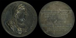 AG01765 MARIA TERES AVG. -  ACADEMIE ROYALE DE BELGIQUE 1772 - 1972 SEANCE JUBILIARE 15 MAI 1973(Ag 50 - 20.1g) - Royal / Of Nobility