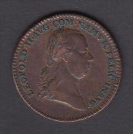 M01771 LEOPOLD II NAMUR COMTE De FLANDRE PAYS-BAS AUTRICHIEN 1791 - Son Profil (13.3g) Blason Au Revers - Royal/Of Nobility