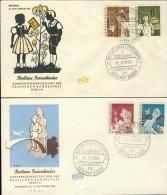 BL6-86 WEST BERLIN 1960 FDC MI 193-196 CHILDREN, ENFANTS, KINDEREN. - Andere