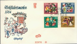 BL6-87 WEST BERLIN 1964 FDC MI 237-240 MARCHEN, SPROOKJES, FAIRY TALES. - Kindertijd & Jeugd