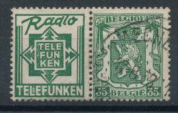 Armoiries 35c Vert Pub Telefunken - Publicités
