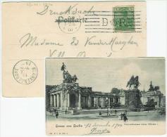GRUSS AUS BERLIN Nationaldenkmal Nach Blankenberge/Belgien Speciale Stempel D R 13.12.1900 - Unclassified