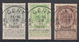 Nrs 81/83  Wapenschilden/Armoiries Oblit/gestp Centrale - 1893-1907 Armoiries