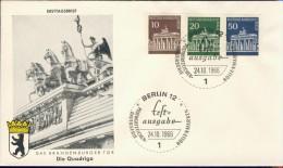 BL6-91 WEST BERLIN 1966 FDC MI 286-287 + 289 BRANDENBURGER TOR. - Monumenten