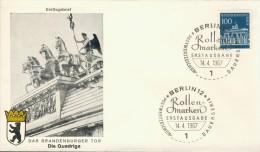BL6-92 WEST BERLIN 1967 FDC MI 290 ROLLENMARKE BRANDENBURGER TOR. - Monumenten