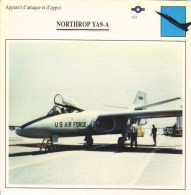 Northrop YA9-A  - Avion D'Attaque Et D'Appui  -  Fiche Technique - 1946-....: Moderne
