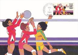 D18355 CARTE MAXIMUM CARD 1983 USA - VOLLEYBALL CP ORIGINAL - Volleyball