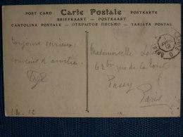 """""""""""  CACHET  AMBULANT  DE  BRIGADE  BREST A  PARIS  RAPIDE  //  1912  TB  """""""" - Postmark Collection (Covers)"""
