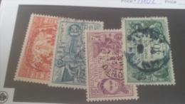 LOT 227164 TIMBRE DE COLONIE DAHOMEY OBLITERE N�99 A 102 VALEUR 30 EUROS