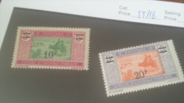 LOT 227167 TIMBRE DE COLONIE DAHOMEY NEUF** N�55/56 VALEUR 20 EUROS