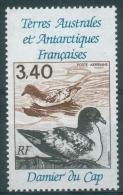 French Antarctic (FSAT), Bird, Cape Petrel, 1992, MNH VF  Air Post - Airmail