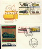 BL6-110 WEST BERLIN 1970 FDC MI 379-384 BERLIN TRAFFIC, TRAM, METRO, TRAIN. - Tranvías