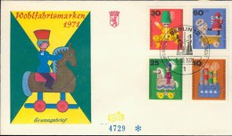 BL6-113 WEST BERLIN 1971 FDC MI 412-415 CHILDREN'S TOYS, SPEELGOED, KINDERSPEILZEUG. - Kindertijd & Jeugd