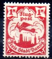 DANZIG 1921 AIR. Sabaltnig PIII Plane Over Danzig - 1m. - Red  MH - Danzig