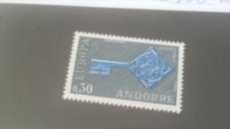 LOT 227225 TIMBRE DE ANDORRE NEUF** N�188 VAEUR 15 EUROS