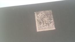 LOT 227229 TIMBRE DE ACOLONIE GUYANE OBLITERE N�23 VALEUR 40 EUROS