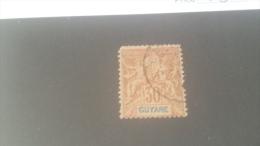 LOT 227230 TIMBRE DE ACOLONIE GUYANE OBLITERE N�38 VALEUR 20 EUROS