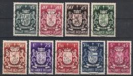 Nrs 716/724 Wapenschildeb/Armoiries Des Neuf Oblit/gestp Centrale - Oblitérés