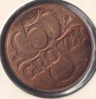 POLOGNE POLSKA 5 GROSZY 1938 - Polonia