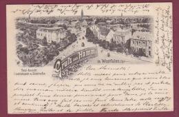 ALLEMAGNE - 071014 - Gruss Aus HAMM In Westfalen - Total-Ansicht, Friedrichsplatz & Südstrafse. 1898 - Hamm