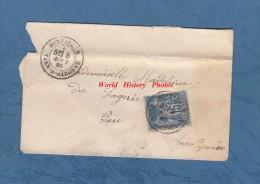 Enveloppe Ancienne De 1855 - Postée De MONTAGNAN , Tarn Et Garonne - Voir Cachet - Adressée à Madeline De Lagerie à PAU - 1877-1920: Semi Modern Period