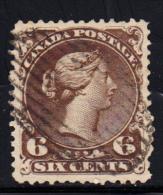 N°23a - 6c Brun Foncé - TB - 1851-1902 Reign Of Victoria