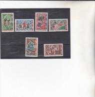 DAHOMEY : Danses Folkloriques : Y&T :  * * : 205 à 210 - Benin – Dahomey (1960-...)