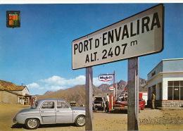 Port D´ Envalira  Timbrée Dauphine Renault Pompe A Essence Mobil Voiture Americaine - Andorra