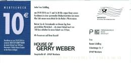 BRD Weinheim Infopost Premiumadress Basis FRW 2010 House Of Gerry Weber Mode - Textil