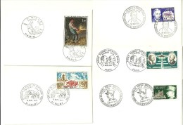 Lot De 5 Petites Enveloppes Oblirérées 1 Er Jour De 1971 Timbres N° 1668- AV 46-1672-1670-1679 Bon état Voir Le Scan - Timbres
