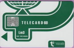 Malte  22  :-.   Telecard 60  °  Vert Foncé Fond Blanc  -  Lm3  °  Sc7 C561-50823  **   T B E - Malte