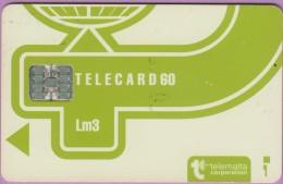 Malte  14  :-.   Telecard 60  Corpo  °  Vert Clair  -  Lm3  ° Sc7 C511-48381   **   T B E - Malte