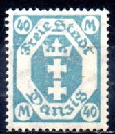 DANZIG 1921 Arms - 40m. - Blue  MH - Danzig