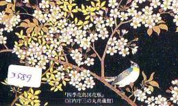 Telecarte Japon OISEAU (3589)  SINGING BIRD * JAPAN Phonecard * Vogel TELEFONKARTE - Songbirds & Tree Dwellers