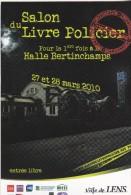 Carte Postale Salon Livre Policier Lens 2010 - Manifestazioni