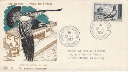 France Salon Du Pigeon Voyageur 1957 - Piccioni & Colombe