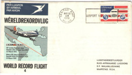 RSA - South Africa - Sud Africa - 1976 - SP Jumbo Flies Non-stop, World Record Flight, Seattle To Cape Town - Viaggia... - Aerei