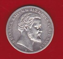 1877 - PRINCIPATO DI REUSS - OBERGREIZ - 2 MARCHI - HEINRICH XXII - - [ 1] …-1871 : German States