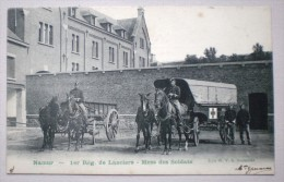 1er R�giment de Lanciers Namur 1905 Mess des soldats KOETS AMBULANCE HIPPOMOBILE Attelage Span