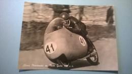 Alano Montanari Su Moto Guzzi 350 C C. - Moto