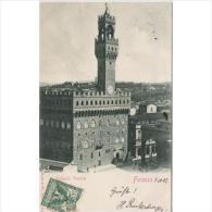 ITLATP1320C-LFTD3139TARCS TARJETA POSTAL DE ITALIA.Calles De FLORENCIA.PALACIO VEQUIO - Castillos