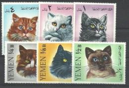 THEMA KATTEN YEMEN 202/207  Xx ( YVERT ) COTE : 9 EURO ( A ) - Domestic Cats