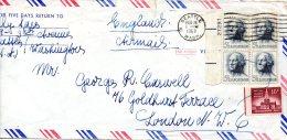 USA. N°741 Sur Enveloppe Ayant Circulé. G. Washington. - George Washington