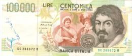 0035 ITALIA 100.000 LIRE CARAVAGGIO - [ 2] 1946-… : Républic