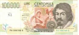 0036 ITALIA 100.000 LIRE CARAVAGGIO - [ 2] 1946-… : Républic